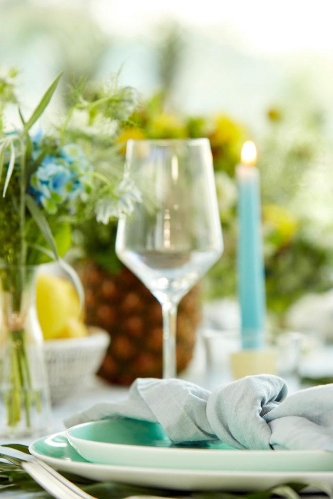 Glas und Kerze
