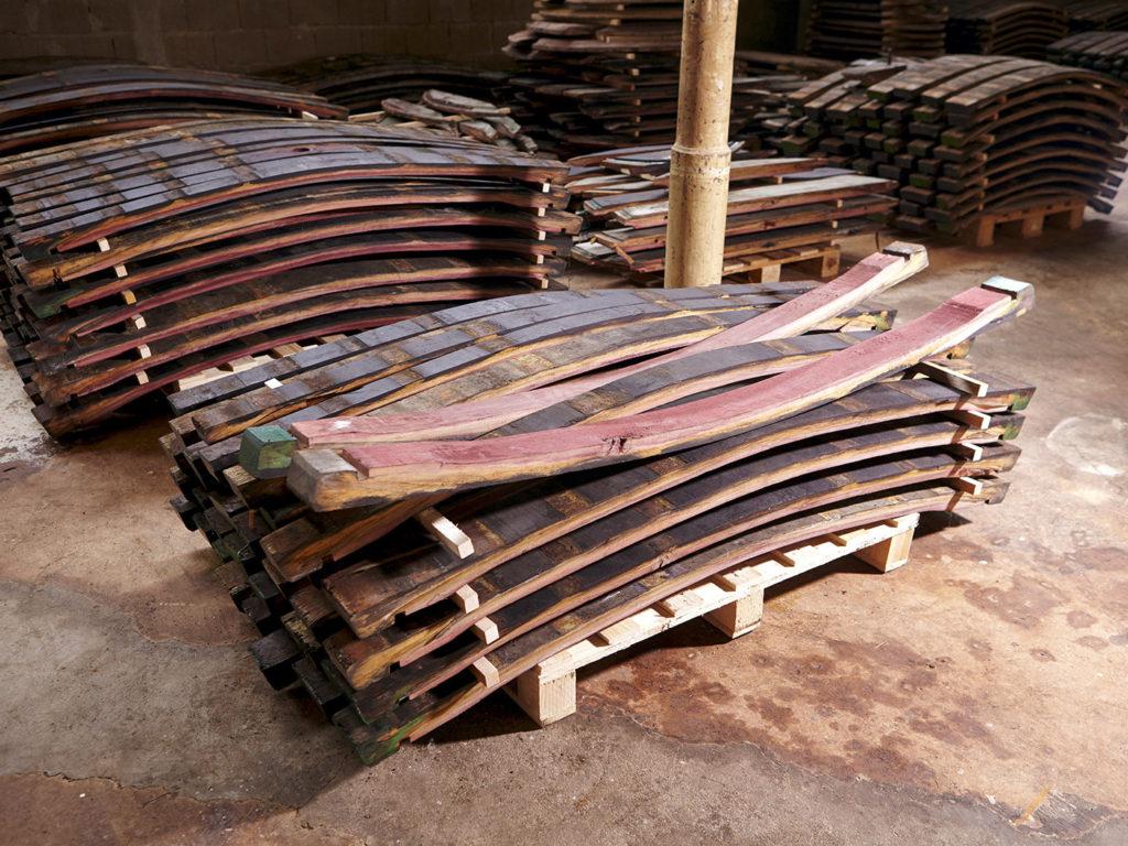 Weinfass Planken